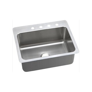 Elkay 20-gauge Stainless Steel 27-inch x 22-inch x 10-inch Single-bowl Dual/Universal-mount Kitchen Sink