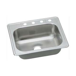Elkay 20-gauge Stainless Steel 25-inch x 22-inch x 8.0625-inch Single-bowl Top-mount Kitchen Sink