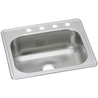 Elkay 20-gauge Stainless Steel 25-inch x 22-inch x 8.0625-inch Single-bowl Top-mount Kitchen Sink