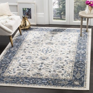 Safavieh Carolina Cream / Dark Blue Rug (5' x 8')