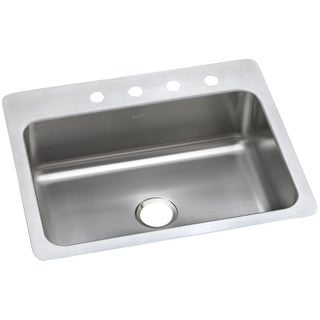 Elkay 20-gauge Stainless Steel 27-inch x 22-inch x 8.0625-inch Single Bowl Dual/Universal Mount Kitchen Sink