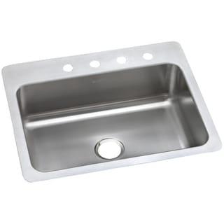 Elkay 20-gauge Stainless Steel 27-inch x 22-inch x 8.0625-inch Single Bowl Universal Mount Kitchen Sink