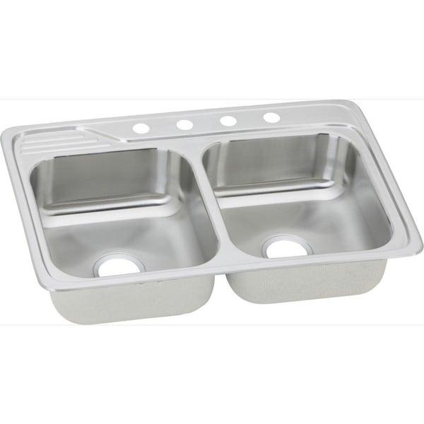 Kitchen Sink 19 X 33: Elkay 20-gauge Stainless-steel 33-inch X 22-inch X 7.5