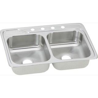 Elkay 20-gauge Stainless-steel 33-inch x 22-inch x 7.5-inch Double-bowl Top-mount Kitchen Sink