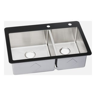 Elkay 18-gauge Stainless Steel Double-bowl Top-mount Kitchen Sink