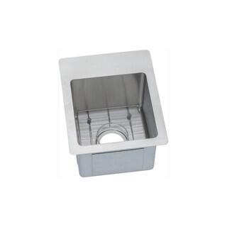 Elkay Silver Stainless Steel 18-gauge Single-bowl Bar/Prep Sink