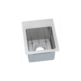 Elkay Silver 18-gauge Stainless Steel Single-bowl Bar/Prep Sink