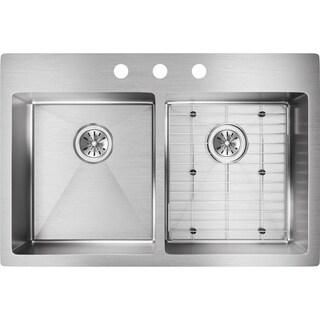 Elkay 18-gauge Stainless Steel 33-inch x 22-inch x 9-inch Double Bowl Kitchen Sink