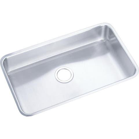 Elkay 18-gauge Stainless Steel 30.5-inch x 18.5-inch x 4.875-inch Single Bowl Undermount Kitchen Sink