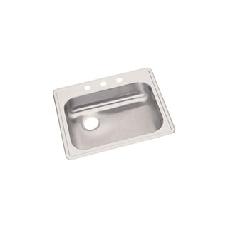Elkay 22-gauge Stainless Steel 25-inch x 21.25-inch x 5.375-inch Single-mowl Top-mount Kitchen Sink