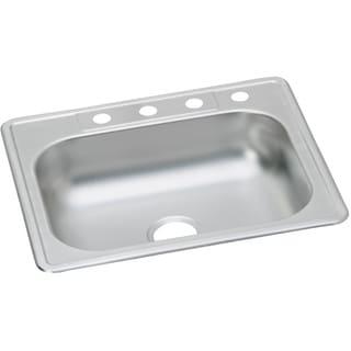 Elkay Silver Stainless Steel 23-gauge Single-bowl Top-mount Kitchen Sink