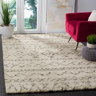 Safavieh Handmade Casablanca Ivory / Grey New Zealand Wool Rug (6' x 9')