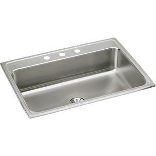 Elkay 18-gauge Stainless Steel 31-inch x 22-inch x 7.625-inch Single Bowl Top Mount Kitchen Sink