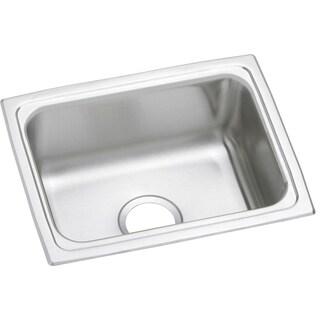 Elkay 20-gauge Stainless Steel 25-inch x 19.5-inch x 7.25-inch Single-bowl Top-mount Kitchen Sink