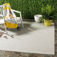 Safavieh Courtyard Tonal Light Grey Indoor/ Outdoor Rug (5' x 8')