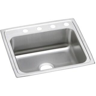 Elkay 20-gauge Stainless-steel 22-inch x 19.5-inch x 7.125-inch Single-bowl Top-mount Kitchen Sink