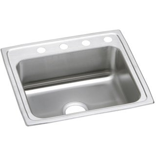 Elkay 20-gauge Stainless Steel 22-inch x 19.5-inch x 7.125-inch Single Bowl Top Mount Kitchen Sink