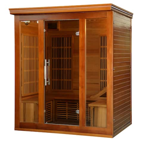 3-4 Person Cedar Infrared Sauna with 9 Carbon Heaters