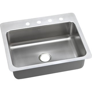 Elkay 20-gauge Satin-finished Stainless Steel 27-inch x 22-inch x 7.5-inch Dual Single-bowl Universal Mount Kitchen Sink