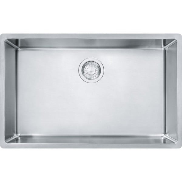Franke silver colored stainless steel cube single basin for Colored stainless steel sinks