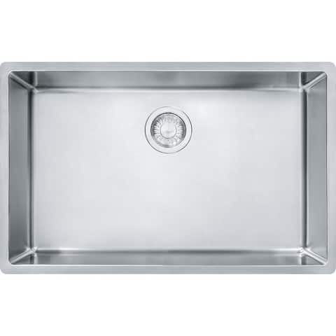 Franke Cube 28-1/2-In Single Basin Undermount 18 Gauge Kitchen Sink - 17.75 x 28.5