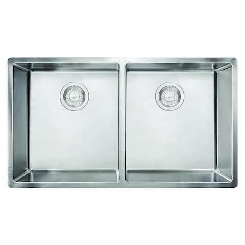 Franke Cube 31-1/2-In Single Basin Undermount 18 Gauge Kitchen Sink - 17.75 x 31.5