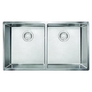 Franke Cube 18-gauge Stainless Steel Undermount Double 36Cab Sink
