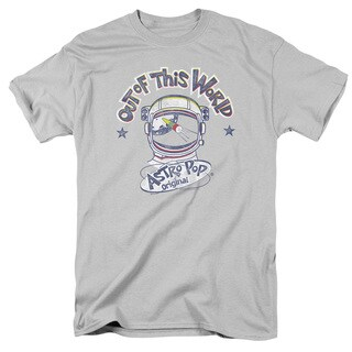 Astro Pop/Out Of The World Short Sleeve Adult T-Shirt 18/1 in Silver