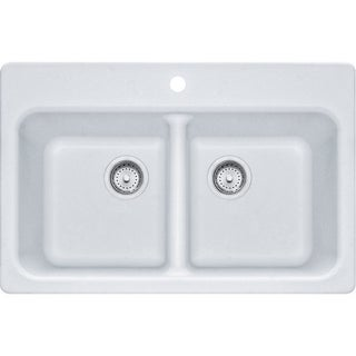 Franke Granite White Double-basin Sink