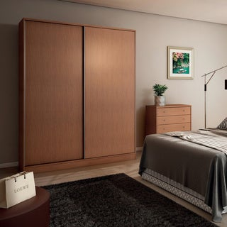 Manhattan Comfort Chelsea 2.0 70.07-inch Wide Full Wardrobe With 3 Drawers and 2 Sliding Doors