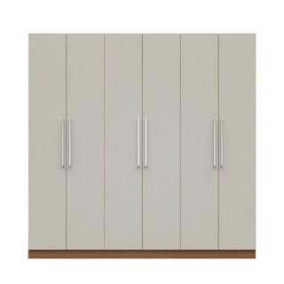 Manhattan Comfort Eldridge 2.0 91-inch 3-section Wardrobe with 4 Drawers and 6 Doors