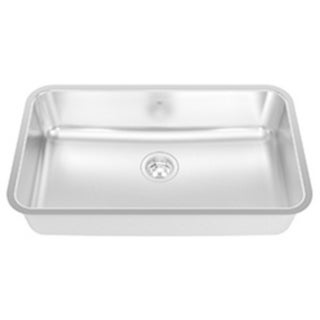 Kindred 20-gauge Silk-finished Stainless Steel 8-inch Deep Single-bowl and Rim Undermount Sink