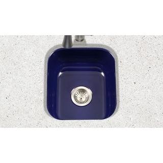 Houzer Porcela Navy Blue Porcelain Enamel 8-inch Deep Single Bar/Prep Sink