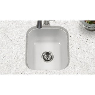 Houzer White Porcelain Enamel 8-inch Deep Single Box Pack Bar/Prep Sink