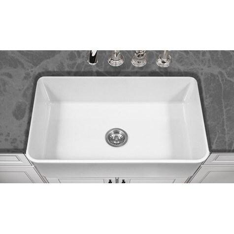 Houzer Platus Houzer White Fireclay 33 Inch 10 Inch Deep Apron Sink