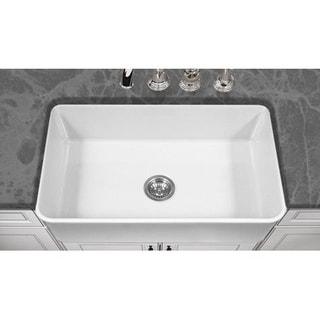 Houzer Platus Houzer White Fireclay 33-inch 10-inch-deep Apron Sink