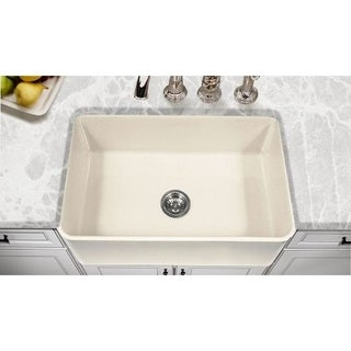 Houzer Platus Biscuit Fireclay Single-basin Kitchen Sink