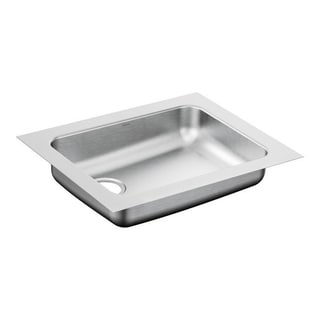Moen 1800 Series Silver Stainless Steel 18-gauge Single-bowl Sink