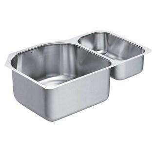 Moen 1800 18-gauge Series Stainless Steel Double-bowl Sink