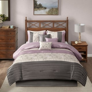 madison park belle purple comforter set option purple