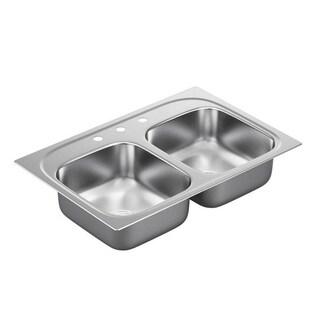 Moen 2000 Series Stainless Steel 20-gauge Double Bowl Drop-in Sink