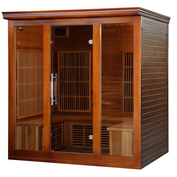 4-5 Person Cedar Infrared Sauna with 9 Carbon Heaters