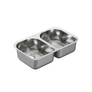 Moen 2000 Series 20-gauge Stainless Steel Undermount Double-bowl Sink