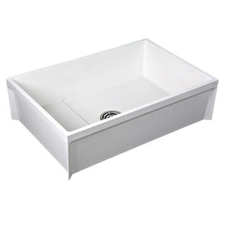 Fiat White Stone Single-basin Mop Sink
