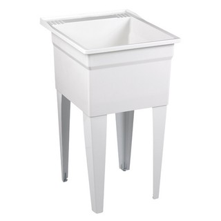 Fiat White Compression-molded Laundry Sink