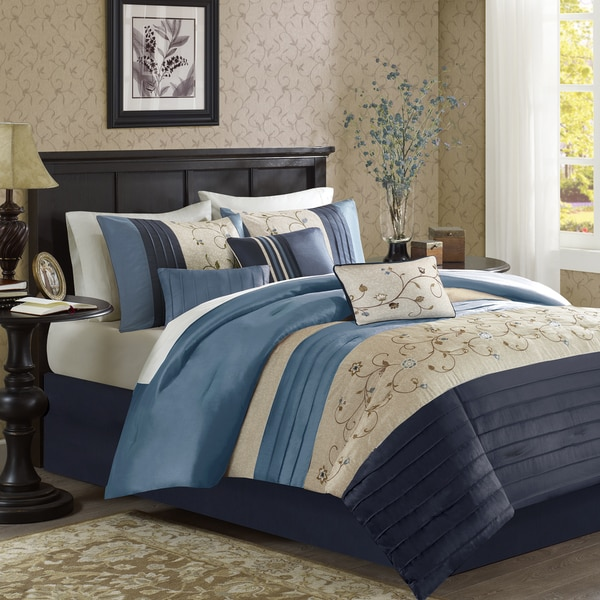 Madison Park Belle Navy Comforter Set