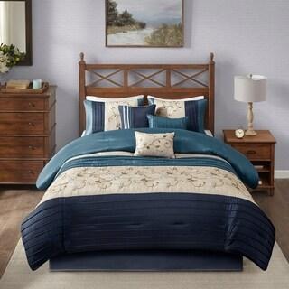 Madison Park Belle Navy Comforter Set