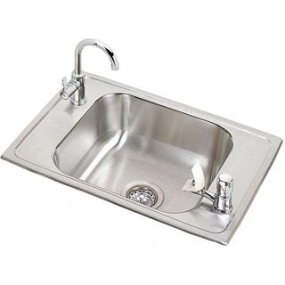 Elkay 20-gauge Stainless Steel Single Bowl Top Mount Sink Kit