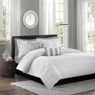 Madison Park Sheridan White Duvet Cover Set