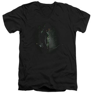 Arrow/In The Shadows Short Sleeve Adult T-Shirt V-Neck 30/1 in Black
